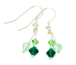 Bridesmaid Jewellery Gorgeous Green Earrings