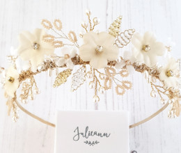 Hair Accessories Persephone Floral Tiara