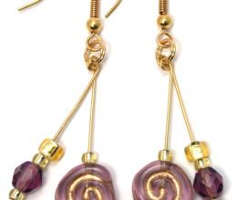Fashion Jewellery Claret Swirl Earrings