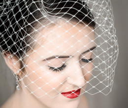 Bridal Accessories Sabrina Birdcage Veil