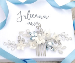 Hair Accessories Something Blue Bridal Comb