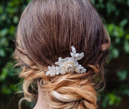 Hair Accessories Sophie Gold Lace Comb