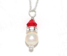 Bridesmaid Jewellery Light Siam Red Pendant Necklace
