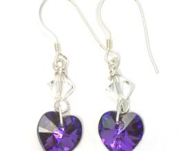 Fashion Jewellery Heliotrope Heart Earrings