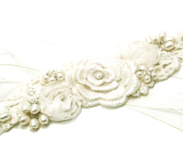 Wedding Jewellery Daisy Ribbon Tie