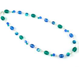 Fashion Jewellery Blue Ice Necklace