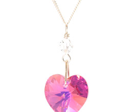 Fashion Jewellery Rose Heart Necklace