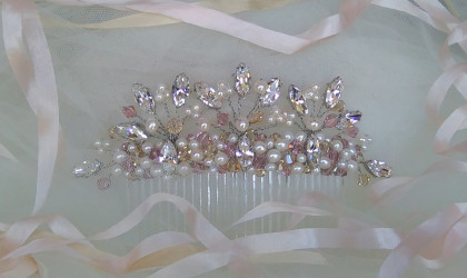 Rose Gold Bridal Comb