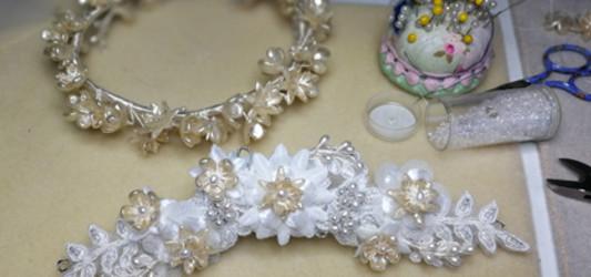 Re-worked Bespoke Lace Bridal Headpiece