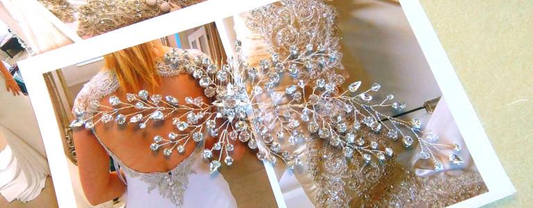 NEW Diamante Bridal Hair Vine