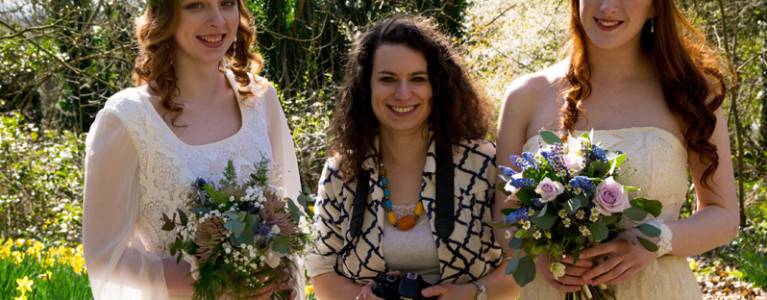 Go Behind the Scenes on the 70s Bridal  Photo Shoot
