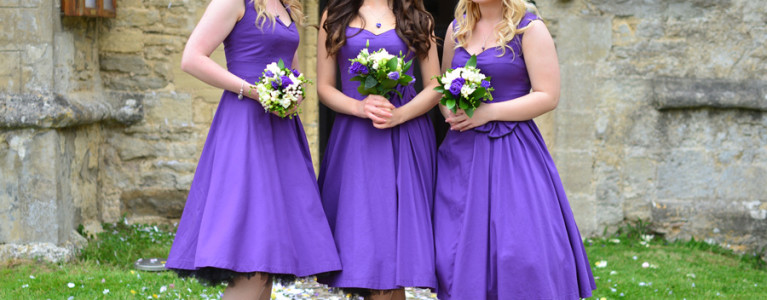 Perfect Purple Bridesmaids