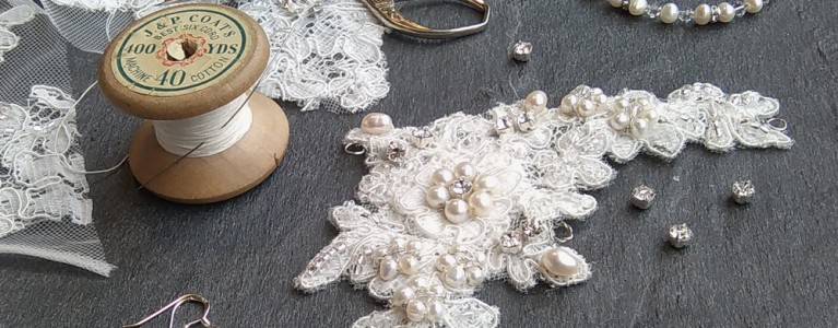 Bespoke Hairvine From Surplus Wedding Dress Lace