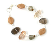 Barley Bracelet - Love this cool brown translucent glass bead fashion bracelet