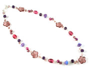 Berry Necklace - Gorgeous rich berry colours in a very pretty glass bead necklace