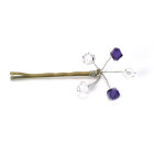 Purple Velvet Crystal Grips - Pretty purple crystal bridesmaids hair grips that will make your girls look fabulous.