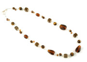 Toffee Necklace - Love toffee, love this rich tawny brown glass bead necklace
