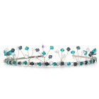 Bermuda Tiara  - Designer bridesmaids tiara in stunning cool blue and rich teal Swarovski crystals. Handmade by Julieann.