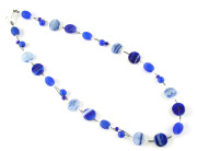 Maritime Necklace - Fashion necklace featuring a range of gorgeous deep and pale blues.