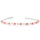 Cherry Headband - Elegant pale cherry crystal and pearl bridemaids  headband. Designed and handmade by Julieann