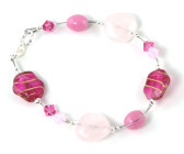 Cherry Blossom Bracelet - Costume glass bead bracelet in a beautiful variety of pinks.