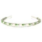 Peridot Headband - Fresh cool green Swarovski crystal and ivory pearl designer bridesmaids headband from Julieann