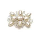 Moonlight Brooch - Pretty and versatile pearl and crystal designer bridal brooch. Ideal for any member of the bridal party to match your big day theme