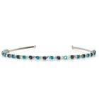 Bermuda Headband - Stunning teal and blue Swarovski crystal bridesmaids headband, designed and handmade by Julieann