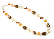 Caramel Necklace - Fashion necklace with a beautiful brown glass bead mix.