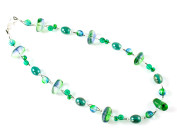 Antigua Necklace - Stunning teal glass bead necklace - ideal jewellery for days in the sun.