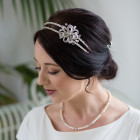 Rebecca Headband - Stunning double band wedding tiara with a beautiful diamante encrusted bow feature