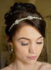 Gemma Headband - Gemma is a beautiful diamante and crystal designer wedding headband handmade by Julieann