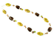 Harvest Necklace - Brown/green fashion necklace taking inspiration from mother nature.