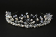 Moonlight Bridal Tiara - Our top of the range statement pearl and crystal handmade wedding tiara.