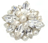 Kitty Brooch - Stunning pearl and diamante bridal brooch ideal to match in with the bridal party.