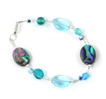 Abalone Bracelet - Simply stunning deep sea teal and aqua colours in this abalone fashion bracelet. Available in a range of sizes.