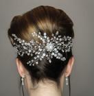 Estelle Diamante Hair Vine - A fabulous statement all crystal and diamante bridal hair vine designed and handmade by Julieann.