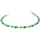Gorgeous Green Headband - All Swarovski crystal designer bridesmaid's headband in lovely shades of green handmade by Julieann