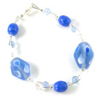 Cornflower Bracelet - Fashion bracelet with pretty pale blue glass beads reminiscent of a Summers day