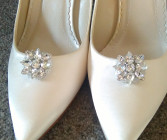 Anna Bridal Shoe Clips - Luxurious, beautiful and stylish crystal and diamante bridal shoe clips.