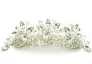 Kara Tiara Comb - Sparkling vintage style crystal and diamante tiara style bridal comb