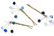 Truly Blue Grip - Frothy bridesmaids hair grips in gorgeous shades of blue.