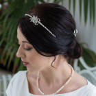 Anya Headband - From our vintage inspired Anya Collection comes this stylish diamante and pearl tiara style headband