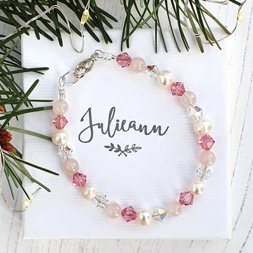 Fashion Jewellery Rosy Pearl Bracelet