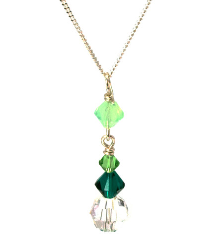 Bridesmaid Jewellery Gorgeous Green Crystal Necklace