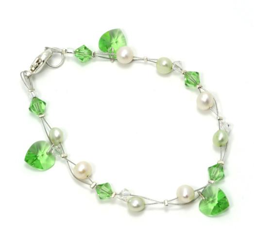 Bridesmaid Jewellery Peridot Charm Bracelet