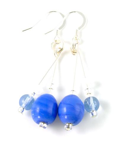 Fashion Jewellery Cornflower Earrings