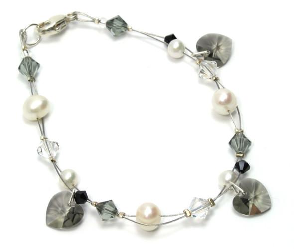 Bridesmaid Jewellery Charcoal Charm Bracelet