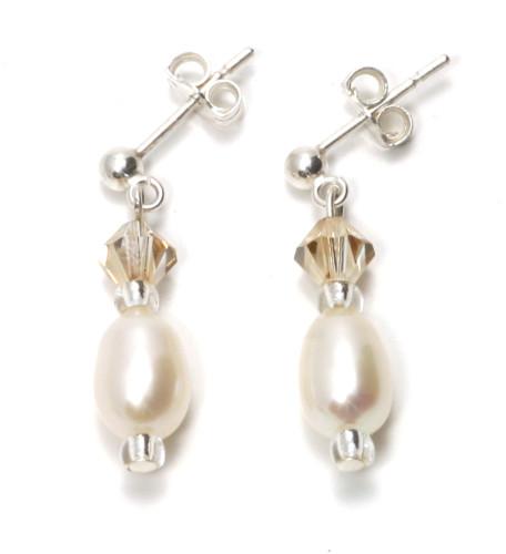 Wedding Jewellery Eternity Drop Earrings