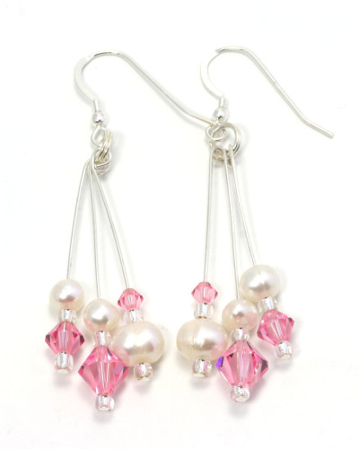 Bridesmaid Jewellery Petal Chandelier Earrings